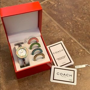 Coach Bangle Style watch 5 Interchangeable Bezels